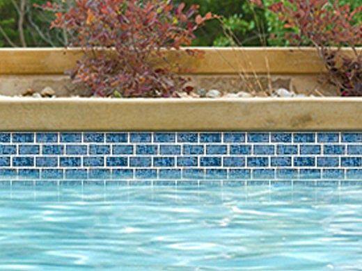 National Pool Tile Tropics 1x2 Series   Aqua   TRO-AQUA BRK