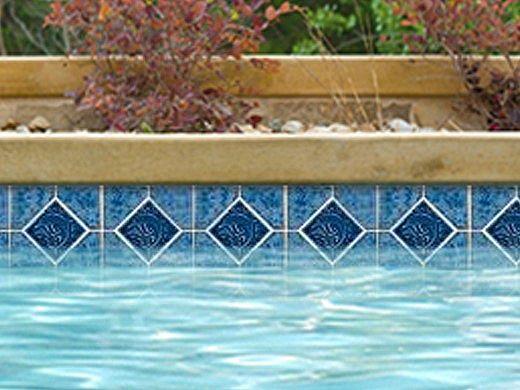 National Pool Tile Tropics Series Dolphin  | Aqua | TRO-AQUA DOL