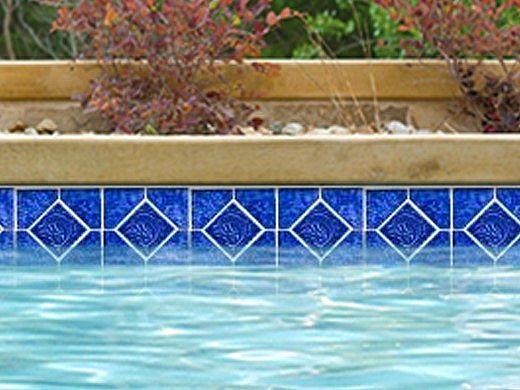 National Pool Tile Tropics Series Dolphin    Cobalt   TRO-COBALT DOL