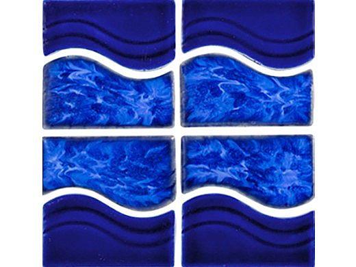 National Pool Tile Tropics Series Wave   Cobalt   TRO-COBALT WV