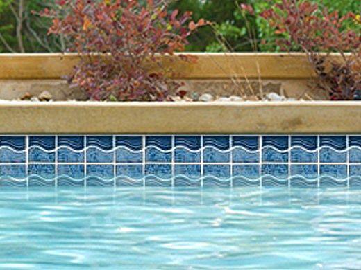 National Pool Tile Tropics Series Wave | Aqua | TRO-AQUA WV