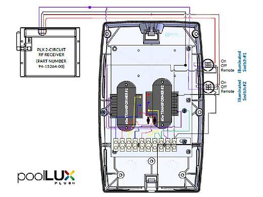 SR Smith poolLUX Plus2 Dual Wireless Multi-Zone Lighting Control System with Remote | 120 Watt 120V Transformer | pLX-PL2