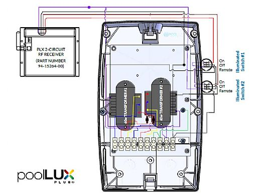 SR Smith poolLUX Plus2 Multi-Zone Wireless Lighting Control System with Remote | 120 Watt 120V Transformer | Includes 2 Kelo Light Kit | 2KE-PLX-PL2