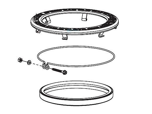 Pentair Stainless Steel Pool LED Face Ring Assembly   600095