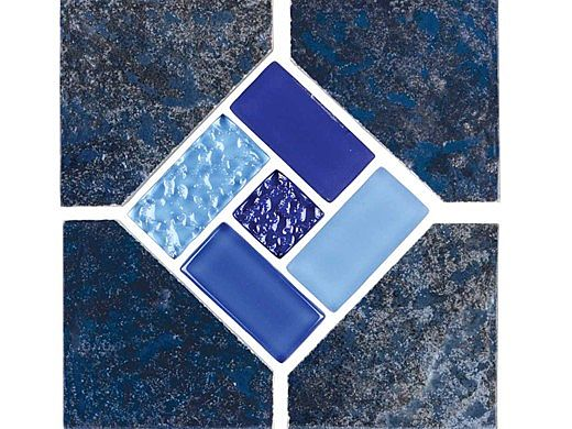 National Pool Tile Trident 6x6 Deco | Blue | TRD-SEASIDE DECO