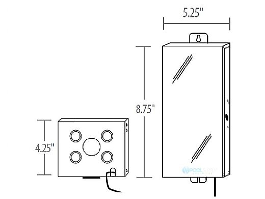 J&J Electronics 100W | 120V to 12V Transformer | TR-100-PP