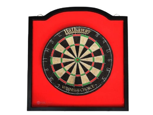 Hathaway Dart Backboard with 1-Inch Thick Solid Wood Black Frame | NG5005 BG5005