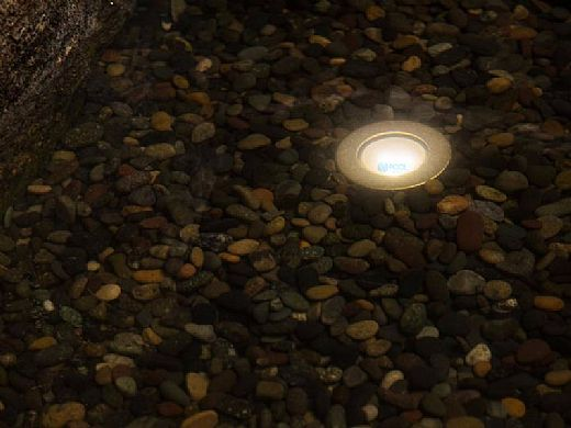 FX Luminaire LP LED Underwater Light | Zone Dimming + Color | Natural Brass | LP-ZDC-BS