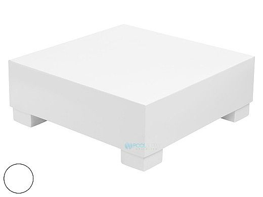 Ledge Lounger Affinity Collection Sectional | Endcap Piece | White | LL-AF-S-EC-W