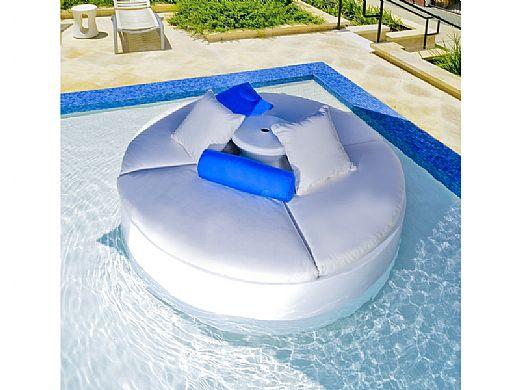 "Ledge Lounger Essentials | Round Bolster Throw Pillow | 7"" x 18"" | Standard Fabric Mediterranean Blue | LL-TP-B718-STD-4652"