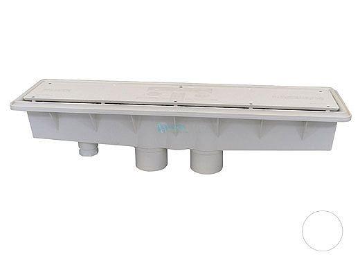 A&A AVSC Dual Suction Standard Top Channel Drain | White | 571903