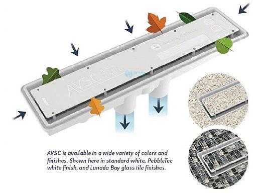 A&A AVSC Dual Suction Standard Top Channel Drain   Light Gray   571954