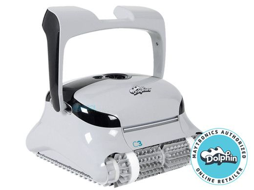 Maytronics Dolphin C3 Commercial Class Inground Robotic Pool Cleaner with Caddy | 99991073-C3I