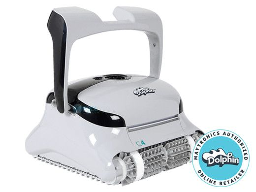 Maytronics Dolphin C4 Commercial Class Inground Robotic Pool Cleaner with Remote & Caddy | 99991083-C4
