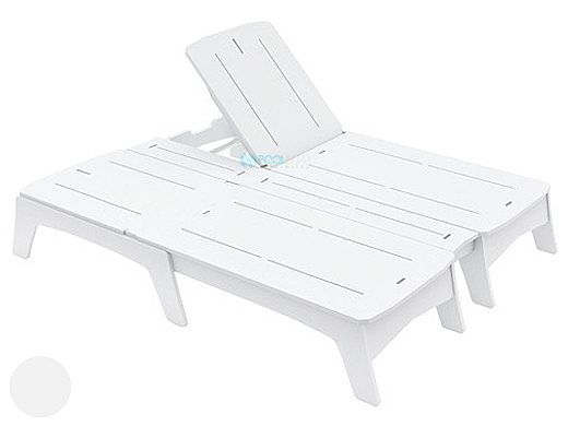 Ledge Lounger Mainstay Collection Double Chaise | White | LL-MS-DBC-WH