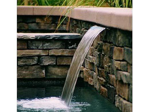 "Custom Cascades 12"" Waterfall | 1.5"" Lip | Bottom Feed | Cooper | 1000-12C-BTM"