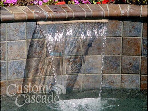 "Custom Cascades 12"" Waterfall | 1.5"" Lip | Bottom Feed | Tan | 1000-12T-BTM"