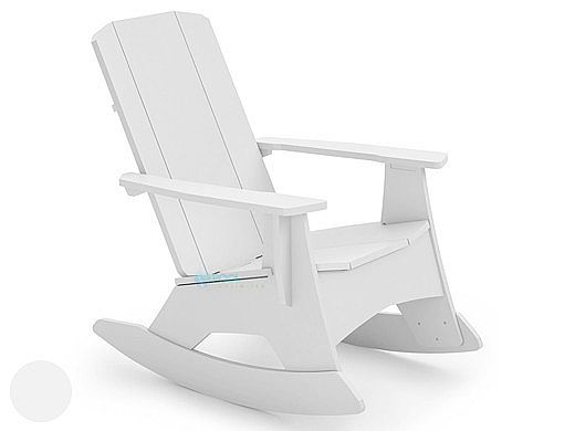 Ledge Lounger Mainstay Collection Outdoor Adirondack Rocker | White | LL-MS-AR-WH
