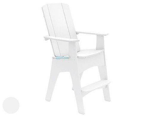 Ledge Lounger Mainstay Collection Outdoor Adirondack Tall | White | LL-MS-AT-WH