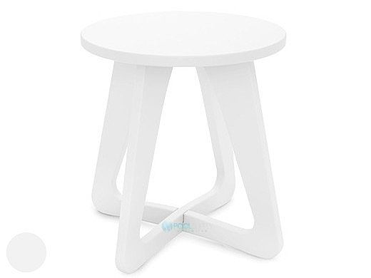Ledge Lounger Mainstay Collection Outdoor Stool | White | LL-MS-SL-WH