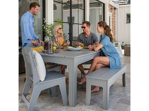 """Ledge Lounger Mainstay Collection Outdoor 25"""" Dining Bench   White   LL-MS-DB25-WH"""
