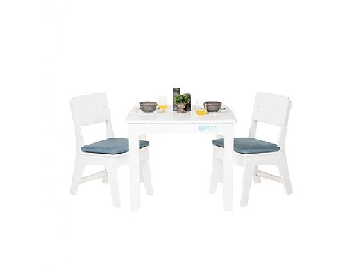 """Ledge Lounger Mainstay Collection 36"""" Square Outdoor Dining Table   Gray   LL-MS-DT-36SQ-GRY"""
