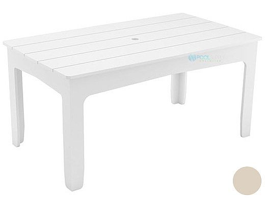 "Ledge Lounger Mainstay Collection Rectangular Outdoor Dining Table | 63"" x 36"" 