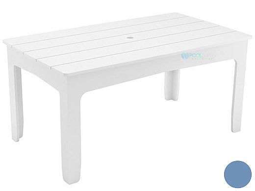 """Ledge Lounger Mainstay Collection Rectangular Outdoor Dining Table   63"""" x 36""""   Sky Blue   LL-MS-DT-63RT-SB"""