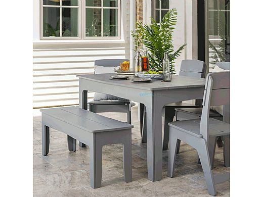 """Ledge Lounger Mainstay Collection Rectangular Outdoor Dining Table 