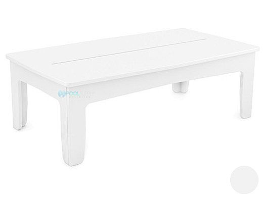 Ledge Lounger Mainstay Collection Outdoor Rectangular Coffee Table | White | LL-MS-CT-RT-WH