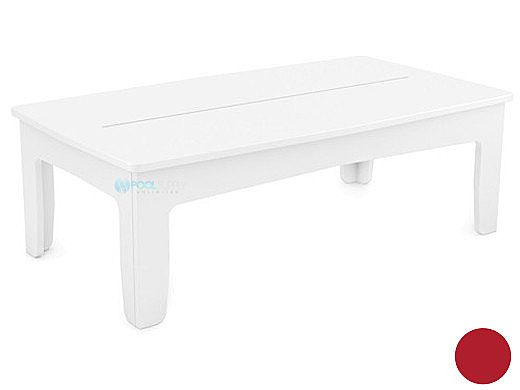 Ledge Lounger Mainstay Collection Outdoor Rectangular Coffee Table   Red   LL-MS-CT-RT-RD