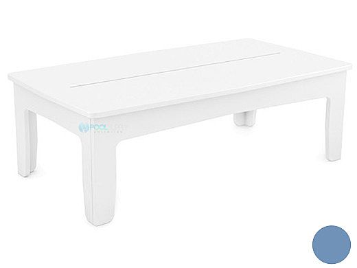 Ledge Lounger Mainstay Collection Outdoor Rectangular Coffee Table | Sky Blue | LL-MS-CT-RT-SB