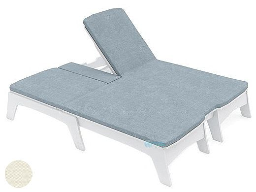 Ledge Lounger Mainstay Collection Outdoor Double Chaise Cushion | Standard Fabric Oyster | LL-MS-DBC-C-STD-4642