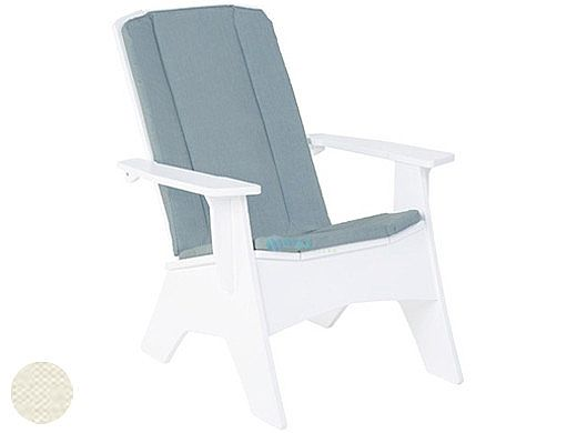 Ledge Lounger Mainstay Collection Outdoor Adirondack Full Cushion | Standard Fabric Oyster | LL-MS-A-SBC-STD-4642