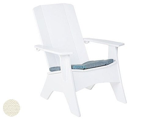 Ledge Lounger Mainstay Collection Outdoor Adirondack Seat Cushion   Standard Fabric Oyster   LL-MS-A-SC-STD-4642