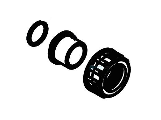 "Waterco MultiCyclone Union Adapter Half Black 1"" (25mm) | 1222252BLK"