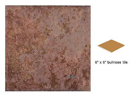 National Pool Tile Aztec 6x6 Single Bullnose Pool Tile | Peacock | AZ601 6X6 SBN