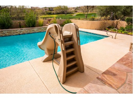 S.R.Smith SlideAway Removable Pool Slide   Taupe   660-209-5810