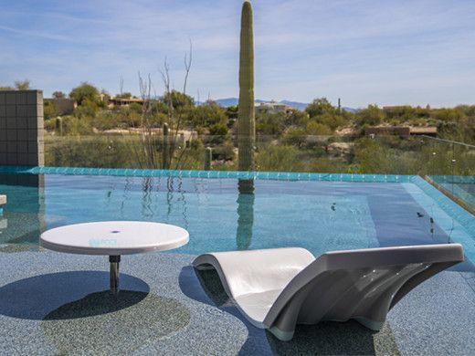"S.R. Smith Destination Series 30"" Sun Shelf Table | Gunite Anchor Included | Fashion Gray | WS-30 TABLE-56-C"