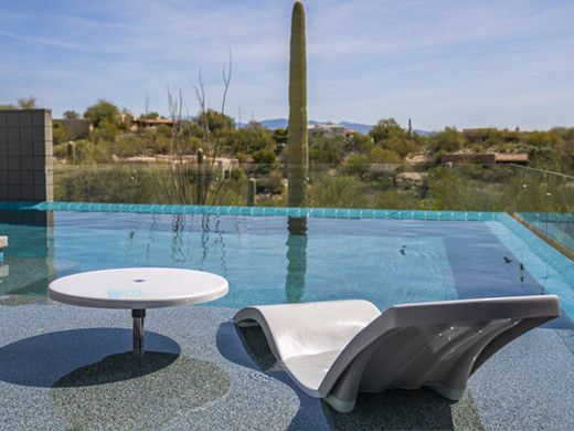 "S.R. Smith Destination Series 30"" Sun Shelf Table | Gunite Anchor Included | Cappuccino | WS-30 TABLE-57-C"