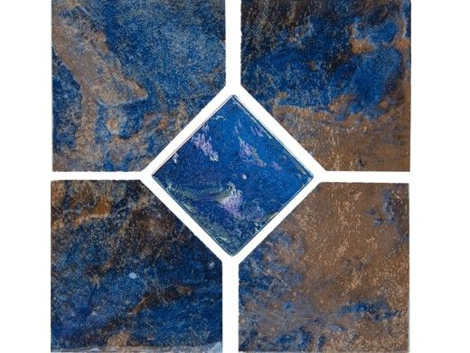 National Pool Tile Coral 6x6 Deco Tile | Rustic Blue | CRL-RUSTIC DECO GL
