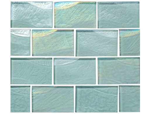 National Pool Tile Sea Ice Series 2x3 Glass Tile | Icecap | ICE-CLEAR2X3