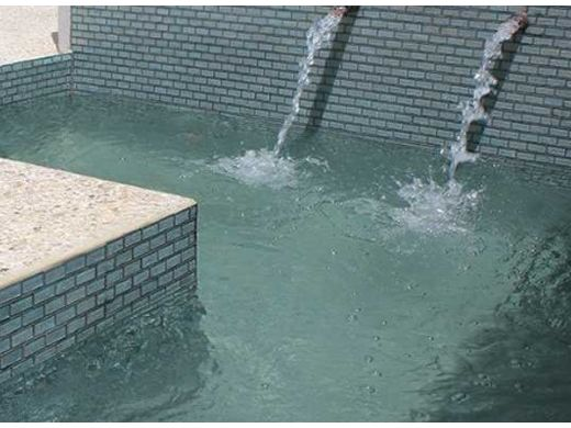 National Pool Tile Sea Ice Series 2x3 Glass Tile | Silver | ICE-SILVER2X3