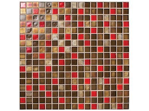National Pool Tile Boutique Oceanside Mini Blend Glass Tile | Ember | OCN-EMBER MINI