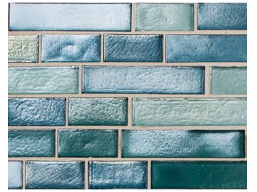 National Pool Tile Aquascapes Interlocking Glass Tile | Aquamarine | OCN-AQUAMARINE IS12