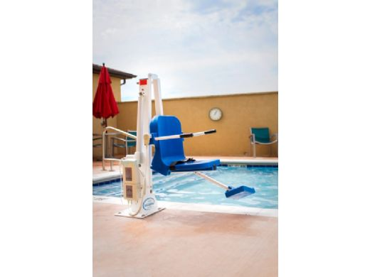 Aqua Creek Ranger 2 Pool Lift   No Anchor   White with Blue Seat   F-RNGR2