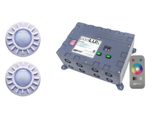 S R Smith PoolLUX Premier Lighting Control System with Remote | Includes 2  Mod-Lite Light Kit | 2ML-PLX-PRM
