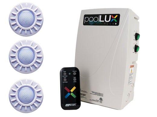 S.R.Smith PoolLUX Plus2 Multi-Zone Wireless Lighting Control System with Remote | 120 Watt 120V Transformer | Includes 3 Mod-Lite Light Kit | 3ML-PLX-PL2