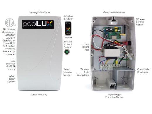 S.R.Smith PoolLUX Plus Lighting Control System   60 Watt 120V Transformer   Includes 3 Mod-Lite Pool Lights   3ML-PLX-PL60