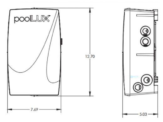 S.R.Smith poolLUX Power Transformer Lighting Control System | 100 Watt 120V | Includes 2 Mod-Lite Pool Lights | 2ML-PLX-PW100